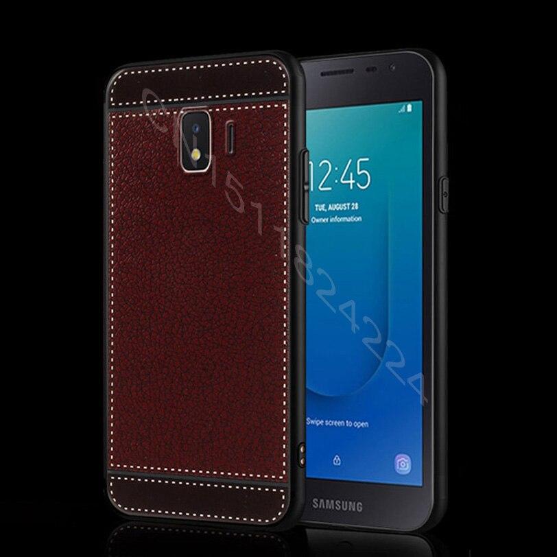 Soft TPU For Samsung J2 Core Case 5.0 Leather Grain Silicone Phone Cover For Samsung Galaxy J2 Core J260 SM-J260F J2core Case