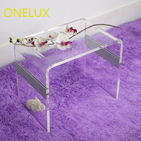 (KD Packed)Transparent Acrylic Coffee/Side/Tea/Occasional Table Clear Acrylic U Tables