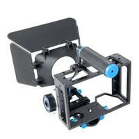 Camcorder DSLR Rig movie Shoulder Mount Video Stabilizer Camera Cage & follow focus & Gear Ring Belt & Matte box