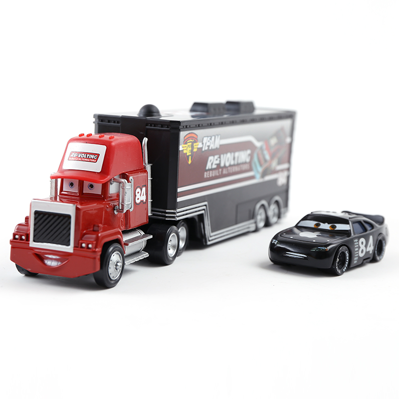 39 Style Cars 2 Disney Pixar Cars 3 No.84 Re Volting Mack Uncle Container Truck 1:55 Diecast Metal Alloy Kids Toys Birthday Gift