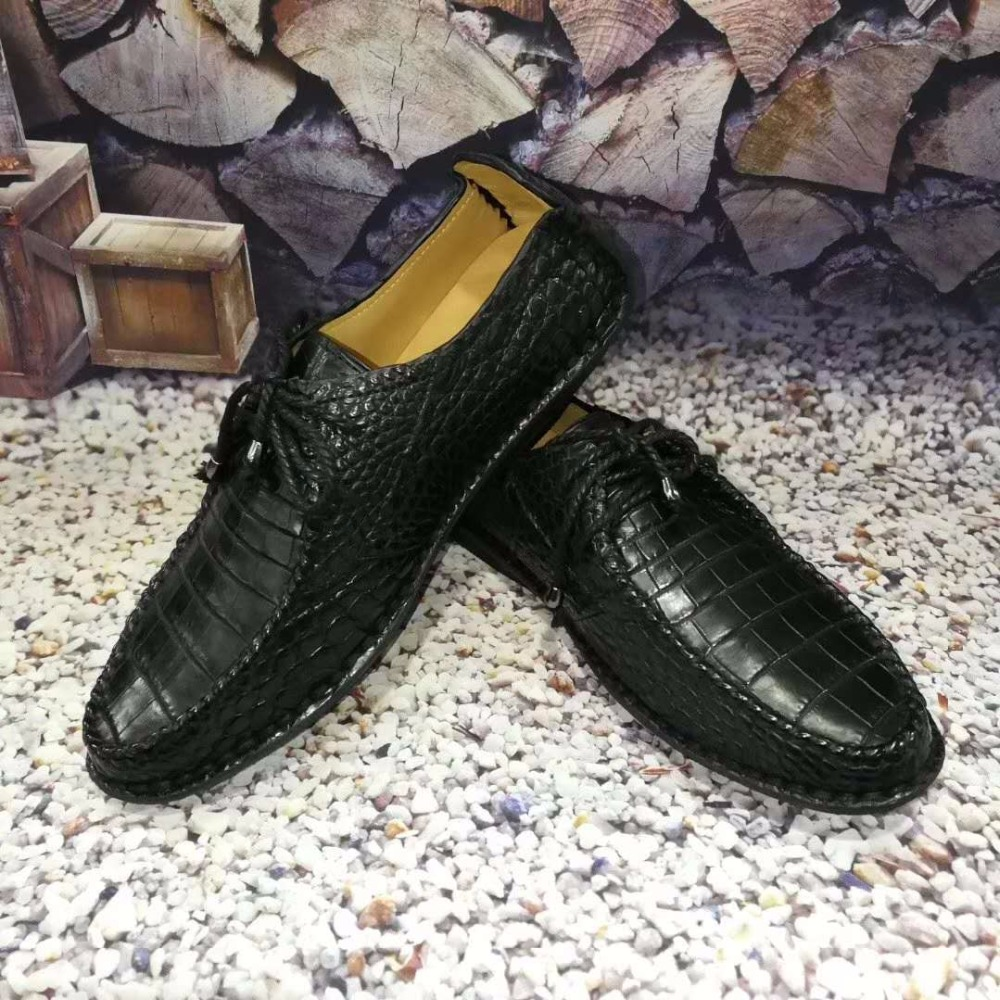 100% Genuine real crocodile belly skin men shoe durable solid crocodile skin men business shoe black brown color hot selling crocodile crocodile cr225r black gold page 8