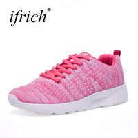 Ifrich Hot Sale Cheap Sport Shoes Woman Summer Autumn Girls Running Sneakers Gray Pink Ladies Jogging