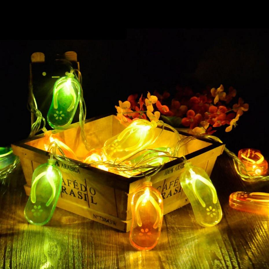 YINGTOUMAN NEW Cute Slippers Plugs Type Lamp LED String Light Christmas Holiday Wedding Party Decoration Lighting 5m 30LED