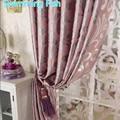 Personalizado calidad engrosamiento jacquard tela blackout cortina de ventana de la sala de tul ciegos