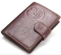 Black Brown Real Cowhide Genuine Leather Passport Cover Women Men Travel Passport Case Genuine Leather Wallets