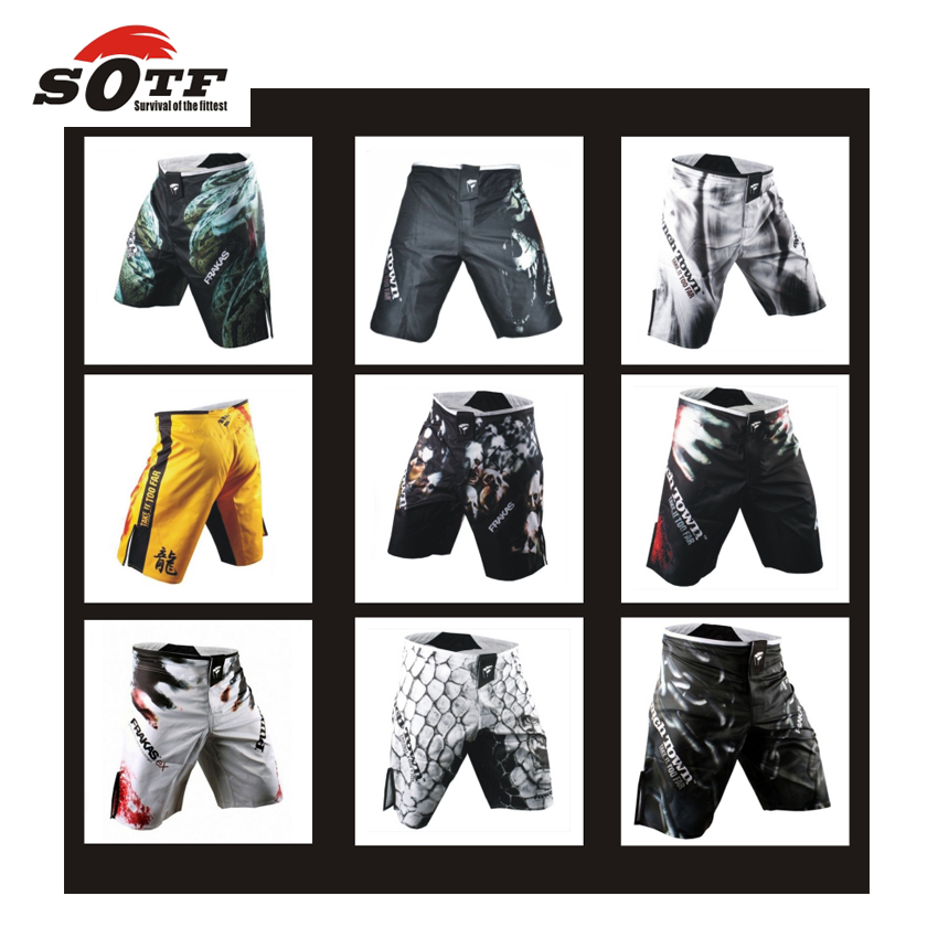 SOTF 2015 new MMA boxing shorts mens mma Muay Thai boxing <font><b>fight</b></font> shorts mixed martial arts sport trunks Muay pants Free shopping image