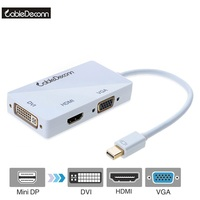 High Quality Multifunction Mini Displayport DP To VGA HDMI DVI Adapter Cable 1 To 3 Adapter