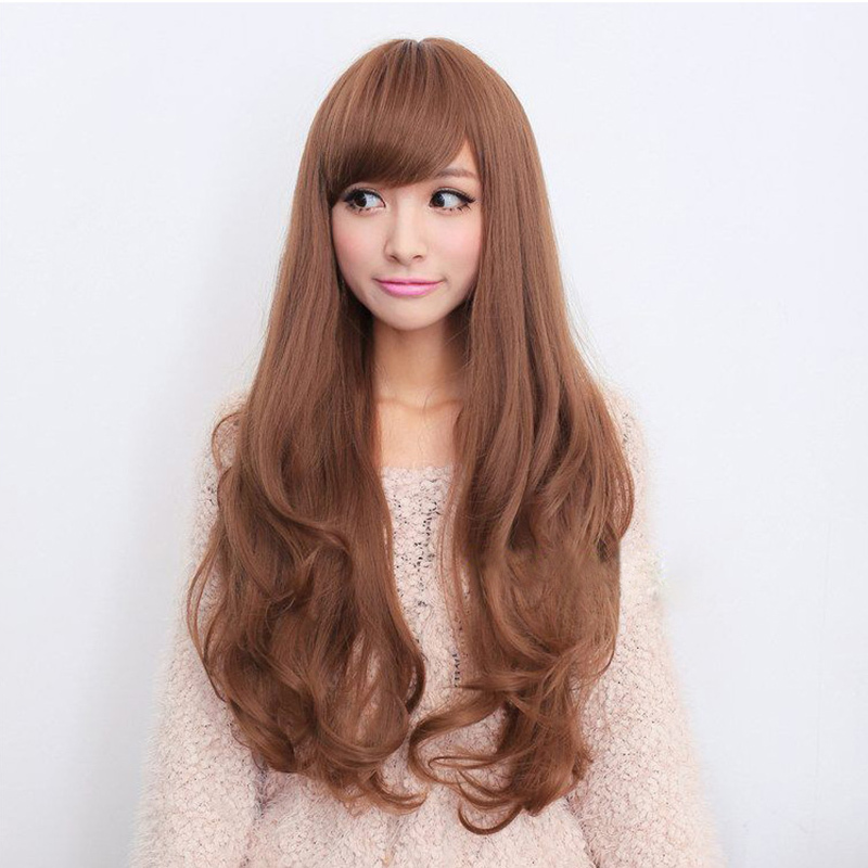 Soft Hair Sexy Fashion Long Wave Ladys Synthetic Wig Full Head Wig Perruque Peluca Peruca Feminina ...
