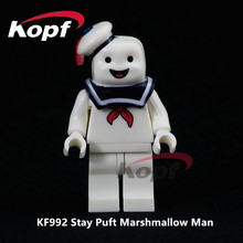 цены Single Sale Super Heroes Stay Puft Marshmallow Man Dolls Model Bricks Education Building Blocks Children Toys Gift KF992