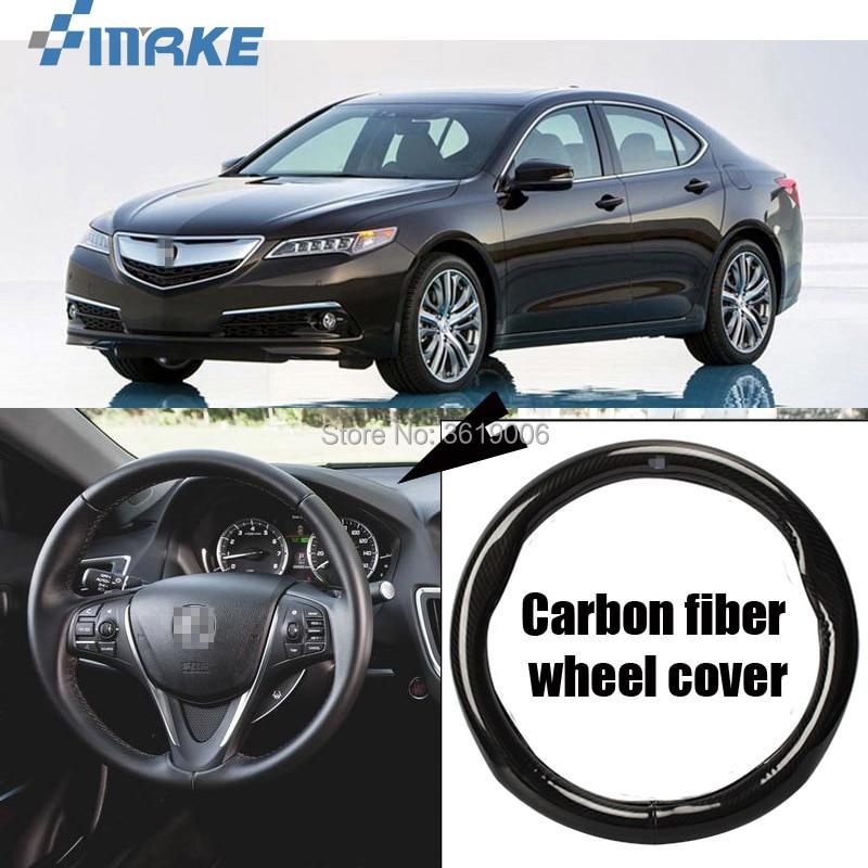 SmRKE Car Accessories For Acura TLX Black Carbon Fiber