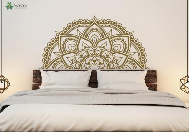 Moderne ontwerp mandala bloem patroon muurstickers voor slaapkamer