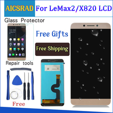 AICSRAD คุณภาพสำหรับ LeEco Le max2 x820 X823 X829 จอแสดงผล LCD Touch Screen Digitizer Assembly สำหรับ LeEco Le max 2 โทรศัพท์