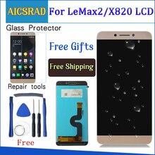 AICSRAD kalite LeEco Le max2 x820 X823 X829 lcd ekran dokunmatik ekranlı sayısallaştırıcı grup LeEco Le max 2 Için telefon