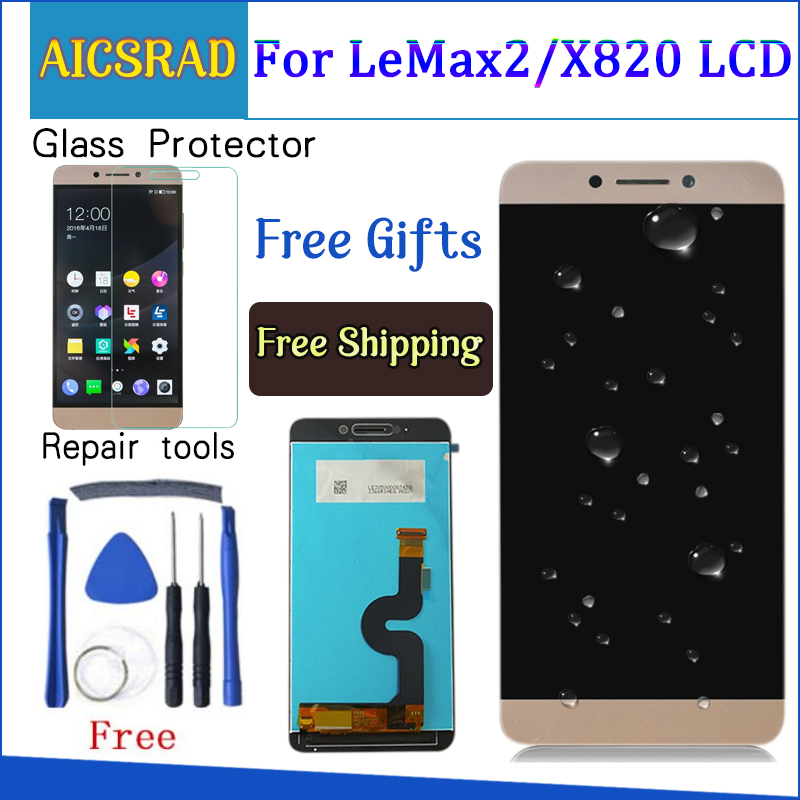 AICSRAD quality For LeEco Le max2 x820 X823 X829 LCD Display Touch Screen Digitizer Assembly For LeEco Le max 2 phone-in Mobile Phone LCD Screens from Cellphones & Telecommunications