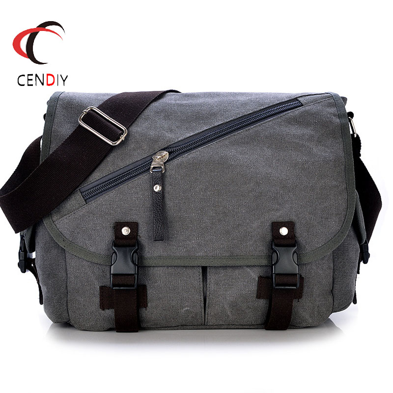 2019 New Men Bag Briefcase Canvas Shoulder Bag Vintage Luxury High Quality Laptop Briefcase File Travel Leisure Shoulder Bags