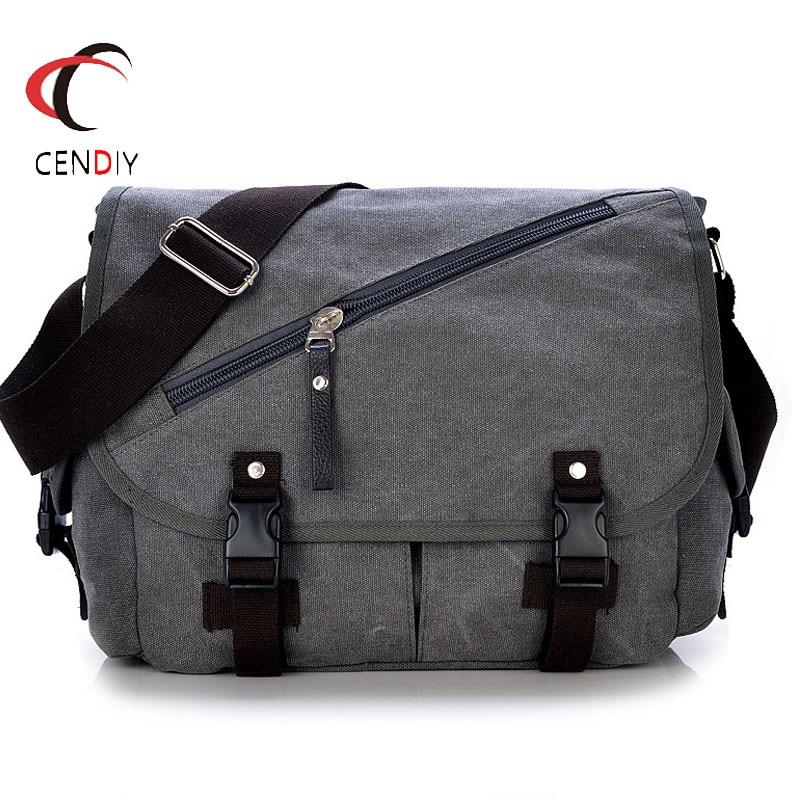 2019 New Men Bag Briefcase Canvas Shoulder Bag Vintage Luxury High Quality Laptop Briefcase File Travel Leisure Shoulder Bags