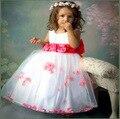 Девушка платье девушки цветка танец платье санкт-пэтти платье лепесток с плавающей пряжи