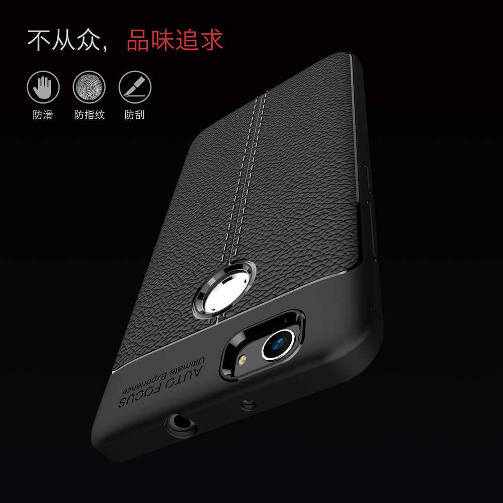 Pour Huawei Nova antichoc étui pour téléphone mat Cannes-L11 CAN-L11 Silicone souple pare-chocs couverture CAN-L12 L13 L01 cuir Texture Funda