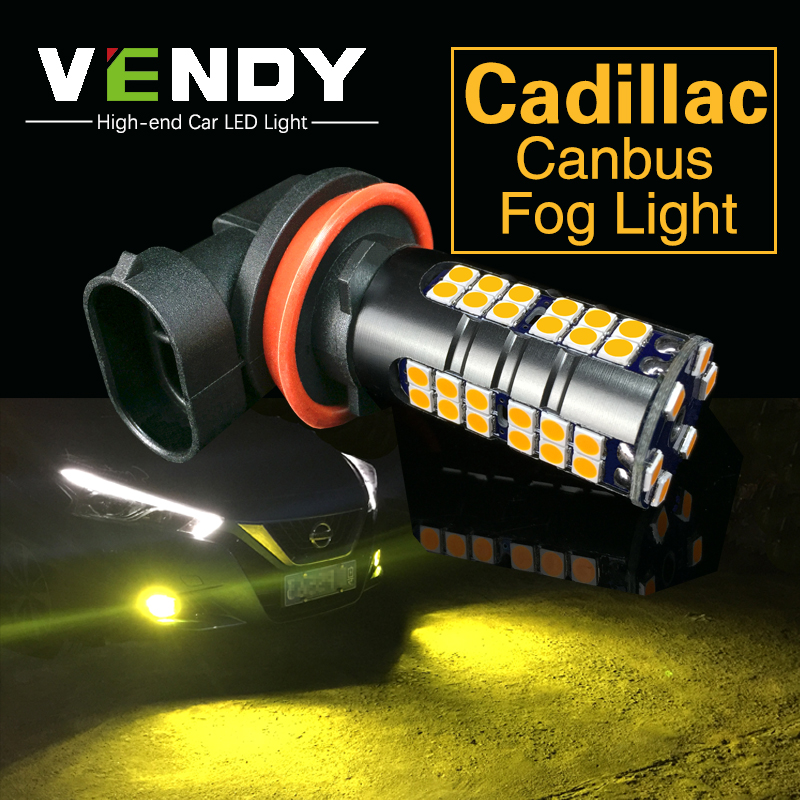 2x H8 H11 Car Auto LED Fog Lights Bulb Daytime Running Light Lamp For Cadillac ATS CTS ELR Escalade EXT Escalade SRX STS XTS