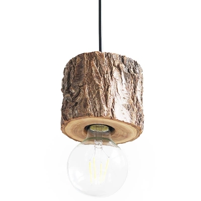 IWHD Wood Pendant Lights Creative Tree Hanglamp Modern LED Pendant Lamp Living Room Bedroom Suspension Luminaire Edison Bulb E27 modern pendant lights for children kids room bedroom lighting suspension luminaire basketball e27 bulb lamp led pendant light