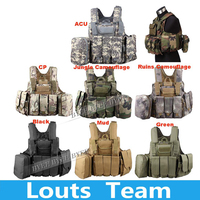 High Quality Airsoft MOLLE Nylon Combat Outdoor Phantom Tactical Vest Camouflage Military Protective Vest