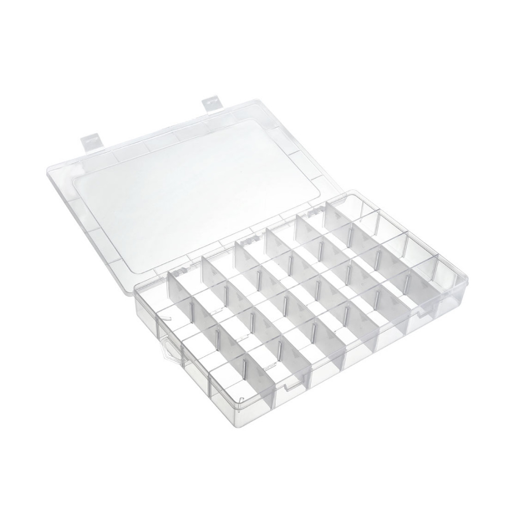 Uxcell Component Storage Box 15/8/10/13/14/24/28/36 Grids Tool Boxes Adjustable Electronic Component Containers For Washers Nuts
