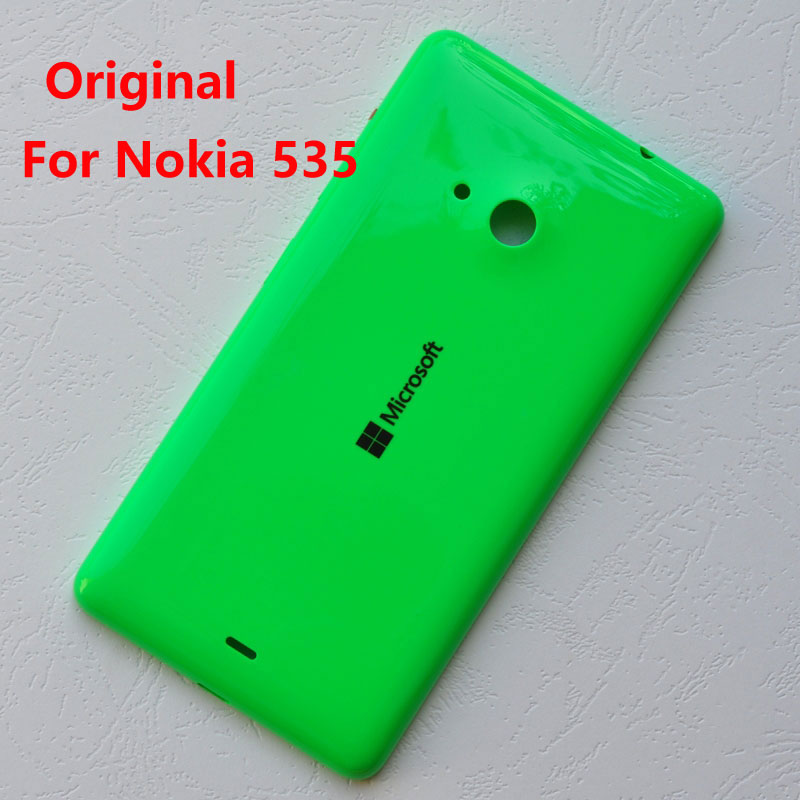 ZUCZUG New Original Plastic Rear Housing For Nokia Lumia 535 Battery Cover Back Case Microsoft Lumia 535 Repair Part