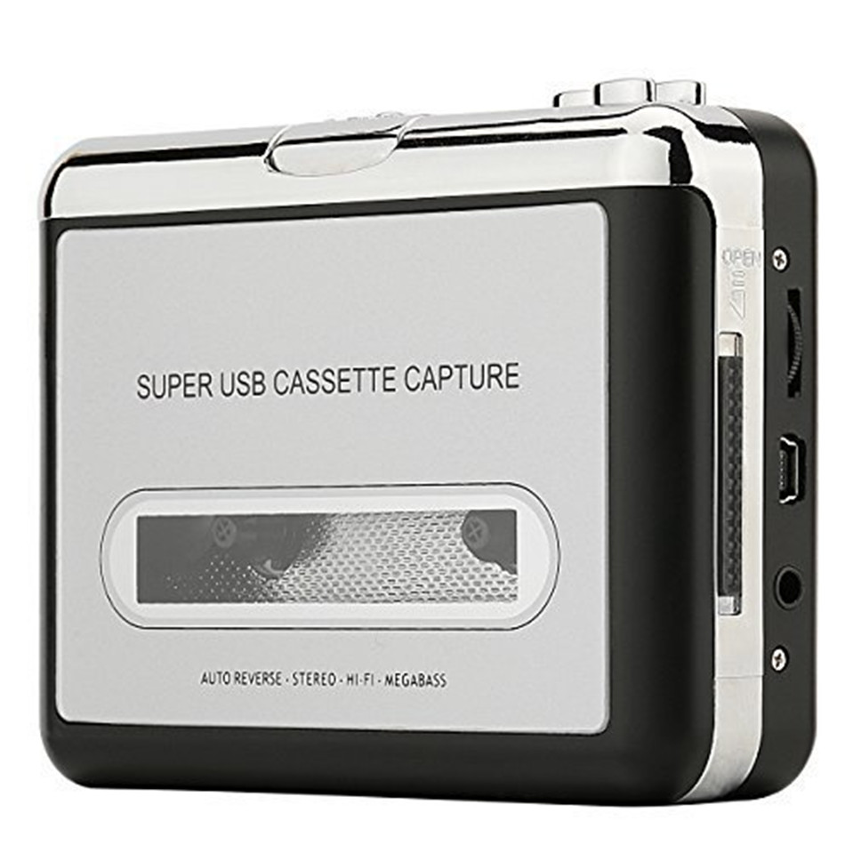 цена на Beautiful Gift 100% Brand New 2016 Audio Music Player Tape to PC USB Cassette to MP3 CD Converter Capture Free Shipping Dec08
