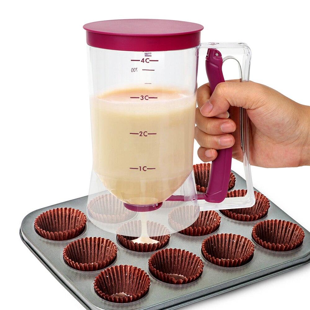 NICEYARD 900 ml Dispensador de Pasta de Massa De Farinha de Medição Copo Creme Speratator Para Panquecas Bolinhos Bolinho Bolo Ferramenta Baking Muffins