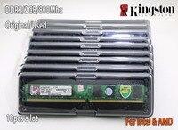 Utilisé original Kingston Bureau RAM DDR2 2 GB 2g PC2-6400 800 MHz 10 pièces PC DIMM Mémoire 240 broches Pour AMD pour intel Lot ventes