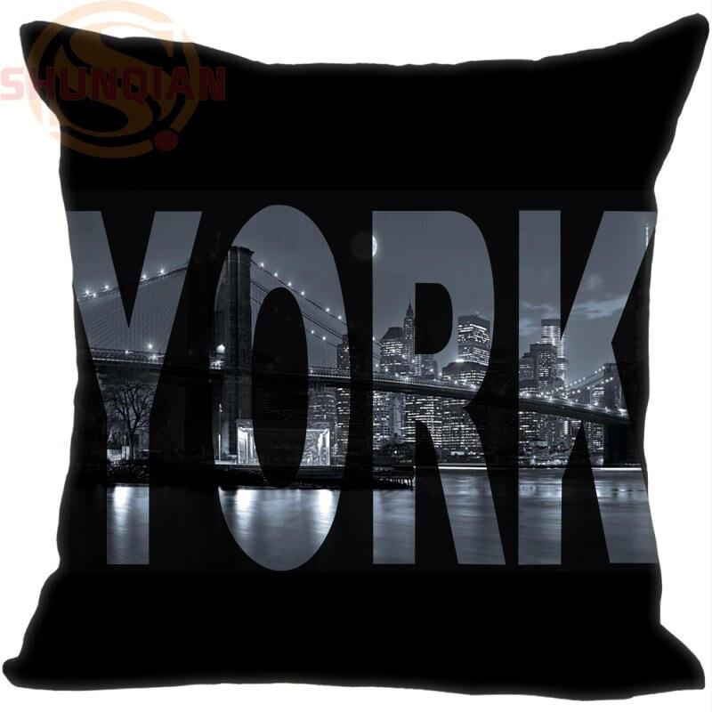 P=W30 Hot Sale New York Brooklyn Bridge &m Pillowcase (One side) Pillow Case Cotton Pillow cover Y1121p-UFP-B