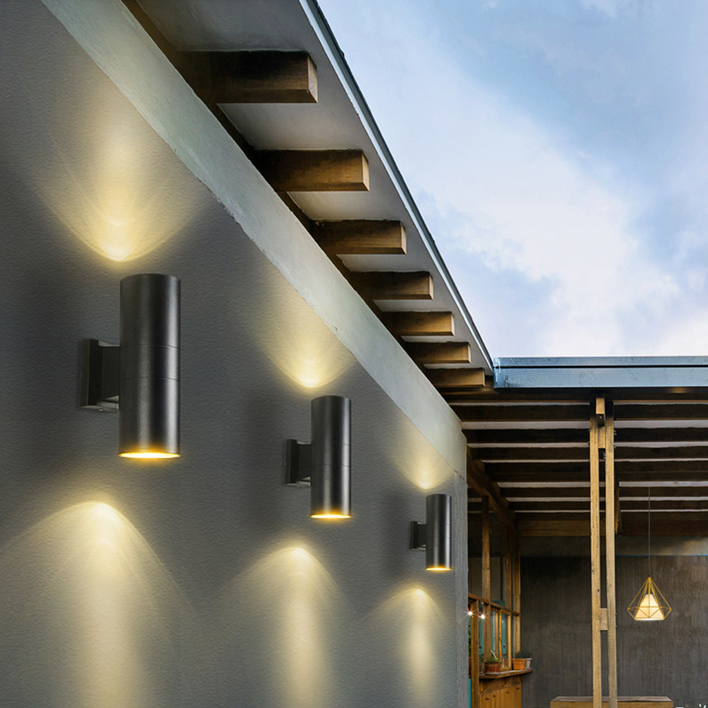 Modern LED Up Down Outdoor Wall Lamp 2*5W Exterior Wall Light Porch Garden light Indoor Sconce Home Decoration IP65 Waterproof outdoor waterproof wall lamp indoor wall light led wall sconce porch garden lights decoration 10w led wall lamp 110v 220v bl56