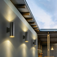 Modern LED Up Down Outdoor Wall Lamp 2*5W Exterior Wall Light Porch Garden light Indoor Sconce Home Decoration IP65 Waterproof
