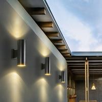 Modern Outdoor LED Wall Lamp 2*5W Exterior Wall Light Up Down Porch Garden light Indoor Sconce for Home Decor Aluminum Rustless