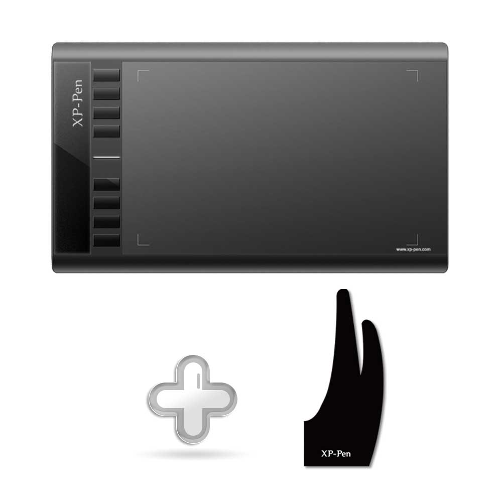 XP-Pen Star03 Graphic Tablet Drawing Tablet + Xp-pen Anti-fouling Glove For Drawing Tablet S/M/L Size