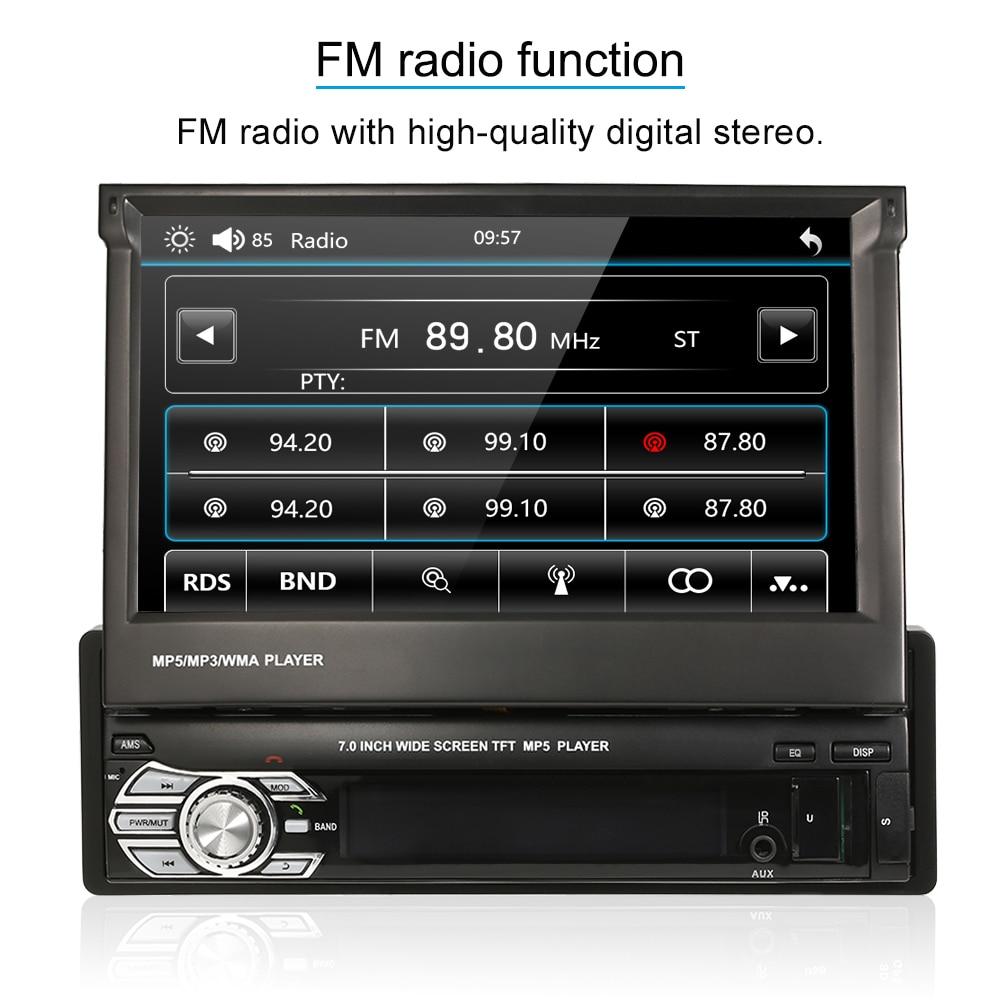 Autoradio 7inch Retractable Automagnitola 1 Din Car Stereo Radio MP5 Player Multimedia for bmw e46 serie