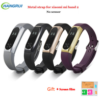 Hangrui Strap For Xiaomi Mi Band 2 Metal Wristband Bracelet Smart Band Accessories Replacement Strap For Mi Band 2