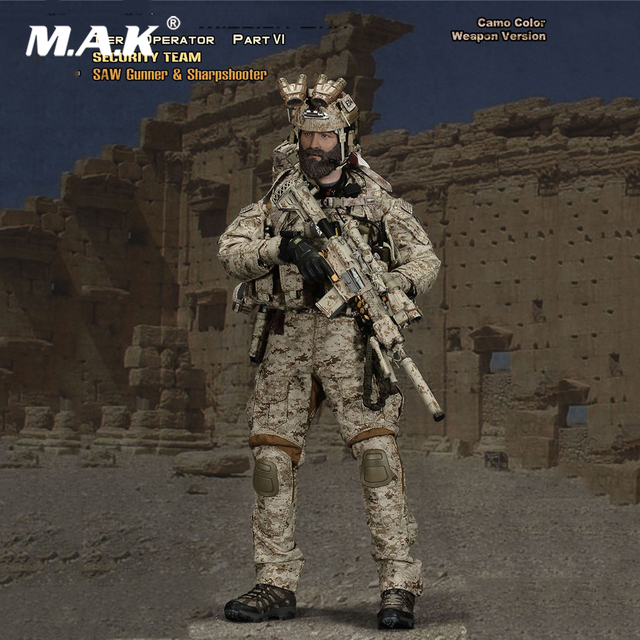 Collectible Full Set Soldier Figure 26021GS 1/6 SMU Special Mission Unit Tier-1 Operator Part VI Deluxe Pack 12inch Collectible