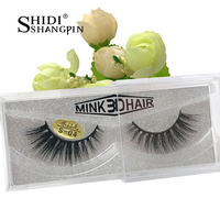 1 Pair Winged Beauty For Make Up 3D Eyelashes Wispy Makeup Real Marten Hair Cilios Mink