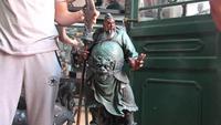 Furniture Decoration Bronze Copper Abstract Guan Gong Warrior God Art Sculpture
