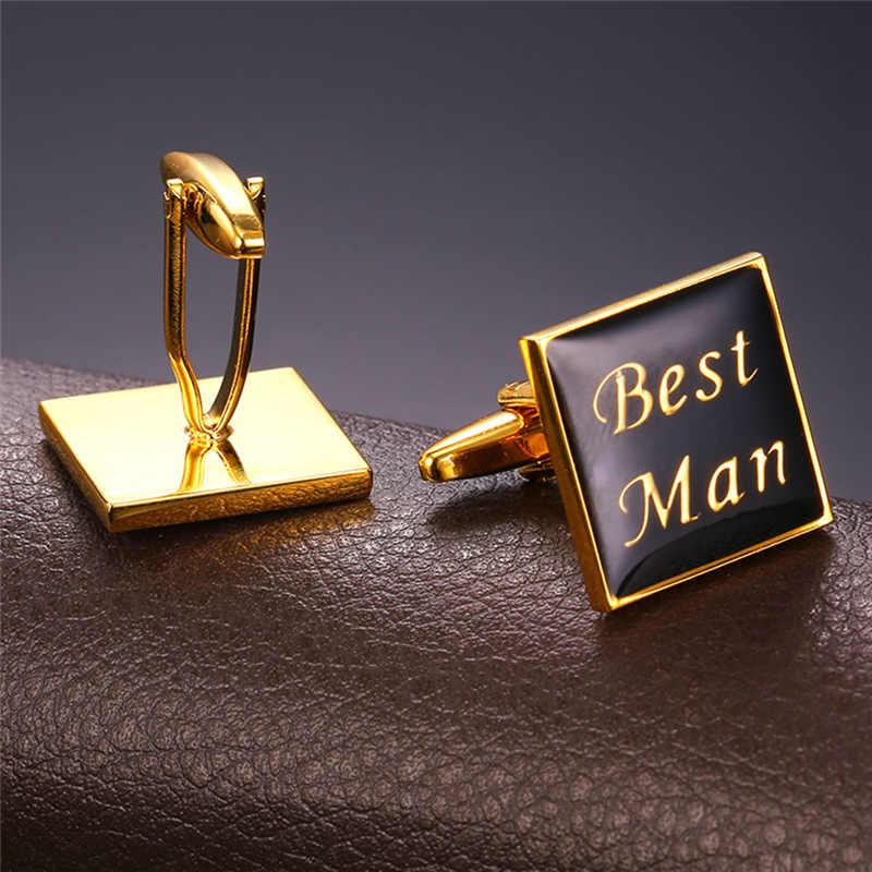 2016新しいエナメルカフス用メンズベストマンチャーム黄色ゴールドカラーgemelosヴィンテージカフスブートンデマンシェットギフト用男性C1991