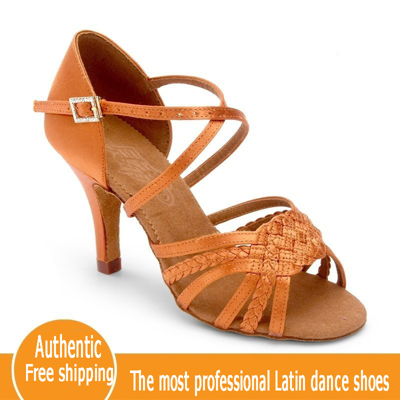 Factory wholesale custom made BD Latin Dance Shoes 2360-B An awl heel Imported satin Women dance shoes 10pair/lot Free shipping  цены