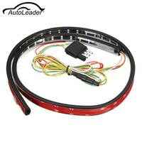 Autoleader Flexible Rear Tail Light Strip Tailgate LED Light Bar 90 120 150cm Red White DRL