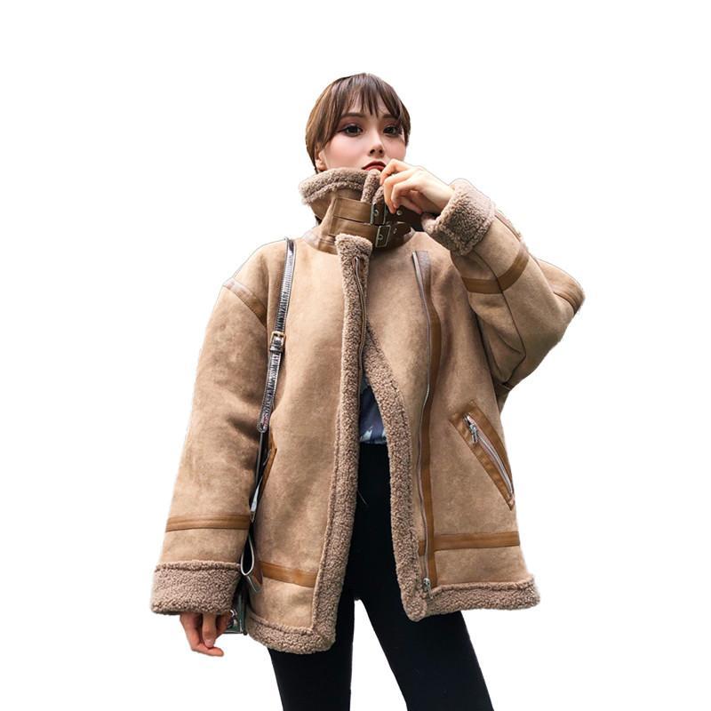 Qing Abrigos Cuero Mujer La Las Chaquetas Se Y Mujeres Moda aFxafA