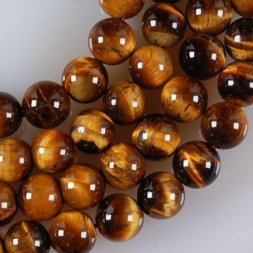"""African Roar Tiger Eye Stone Round Loose Beads strand 15/"""" Natural Grade 6mm"""