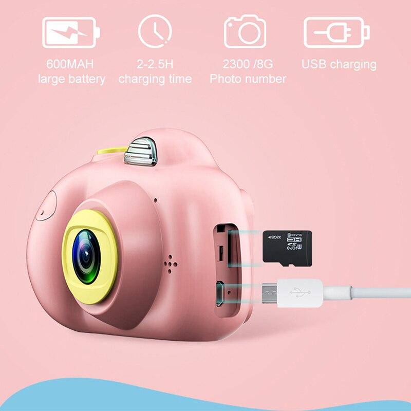2.0 pouces HD 1080 P Mini enfants caméra enfants avant et arrière double lentille caméra vidéo numérique reconnaissance du visage Camara Fotografica Cam - 3