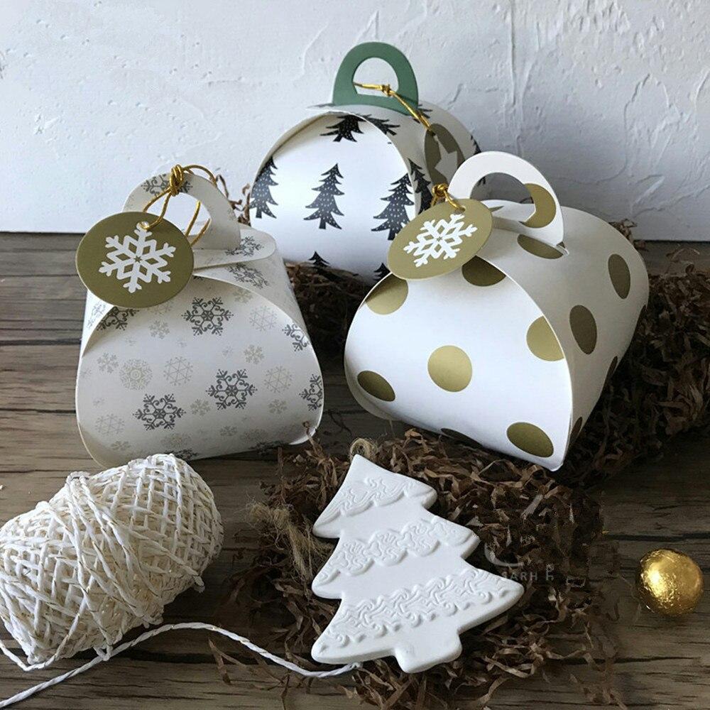 Weihnachten Verpackung Box Apfel Papier Boxen Mit Griff Für ...