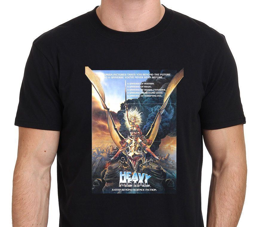 heavy metal vintage movie poster men t shirt 2018 brand t shirt homme tees short sleeve funny design top tee