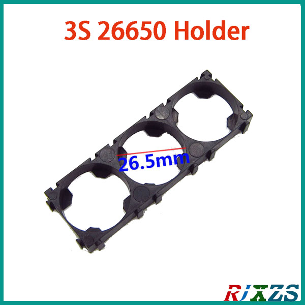 2pcs/alot 3s 26650 Battery Holder Bracket Cylindrical Battery Holder 26650 Holder Safety Anti Vibration Plastic Case Box