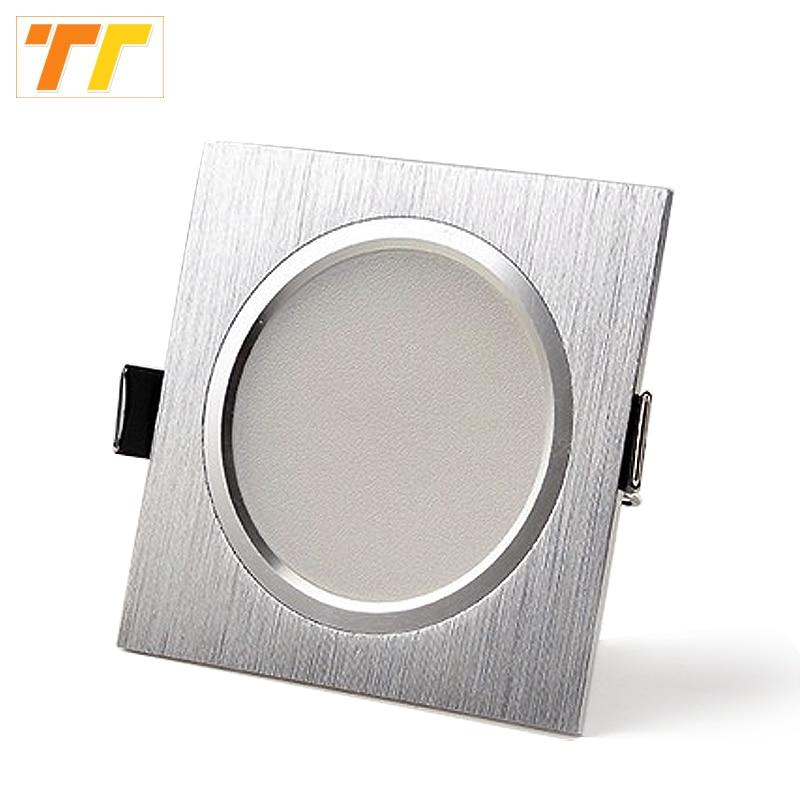 10PCS / Lot LED Stropní lampa saténová stříbrná studená / teplá bílá Epistar zapuštěná skříňka světlo svítidlo AC 230V 110V pro domácí osvětlení